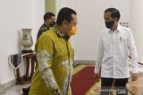 Presiden Jokowi dan pimpinan MPR bicarakan RUU HIP di Istana Bogor