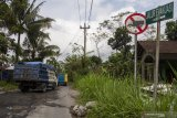 Dishub Sleman pasang lampu jalan di jalur evakuasi Merapi