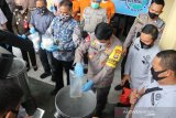 Polda Sulteng musnahkan barang bukti narkoba 25 kilogram