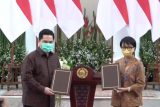 Erick Thohir dan Menlu teken MoU diplomasi ekonomi dukung BUMN Go Global