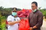 Gubernur salurkan bantuan paket sembako kepada warga terdampak banjir di Lamandau