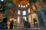 Gli si kucing tetap jadi penghuni Hagia Sophia