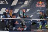 Duet Petronas Yamaha puncaki FP2 GP  Ceko