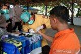 Belasan tahanan Polres Palu jalani rapid test COVID-19