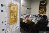 Harga emas Antam hari ini turun Rp2.000/gram