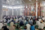 Jamaah Sholat Idul Adha di Masjid Al-Furqon patuhi protokol kesehatan