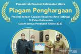 Kaltara provinsi terbaik pelaksanaan sensus penduduk secara online