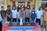 Polres Kendari musnahkan barang bukti ratusan gram sabu-sabu