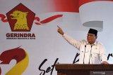 Prabowo Subianto  siap emban amanah pimpin Gerindra 2020-2025