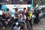Satlantas Polres Bangka bagikan puluhan masker merah putih sambut hari kemerdekaan