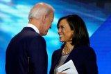 Pasangan Capres Demokrat Biden dan Harris tampil bersama  kampanye perdana