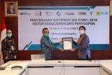 PLN raih sertifikasi antimanajemen penyuapan ISO 37001