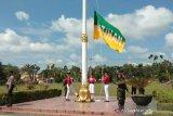 Paskibraka upacara HUT Ke-75 Kemerdekaan RI Pemkot Palangka Raya hanya lima orang