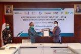 Konsisten terapkan GCG PLN raih sertifikat anti manajemen penyuapan ISO 37001