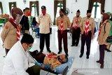 Kwarda Gerakan Pramuka Kalteng bantu PMI kumpulkan stok darah