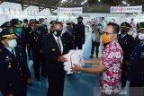Gubernur Sulsel tinjau pabrik garmen di Lapas Makassar