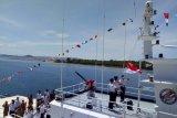 Bakamla ZMTh gelar pengibaran merah putih di kapal KN Gajah Laut