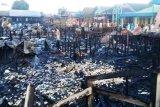 11 rumah dan satu bangunan walet di Barsel ludes terbakar