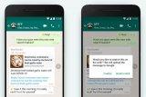 WhatsApp merilis dua versi beta baru di google play