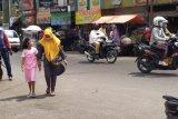 Pedagang pasar di Kota Bandarlampung mulai patuh bermasker
