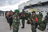 Danrem 173/PVB Biak sambut kedatangan Satgas Pamrahwan Yonif 500/Sikatan