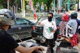 HUT Projo ke-6 di tengah pandemi, Projo Sumbar bagikan masker di Padang