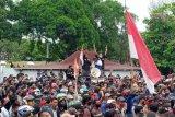 Ribuan karyawan PT Minanga Ogan demo tuntut  pembayaran gaji