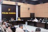 Polda Sumsel gelar pasukan Operasi  Mantap Praja Musi