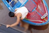 Jenazah nakhoda korban tabrakan kapal di Sungai Mentaya ditemukan