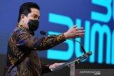 Erick Thohir tegaskan harus ada optimisme Indonesia bisa keluar dari krisis
