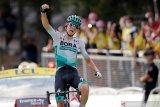 Lennard Kamna tercepat pada etape 16 Tour de France