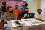 Polisi tangkap seorang pria bawa 110 kilogram ganja kering