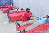 Donor darah di Palu ikuti protokol kesehatan