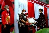 Dukung penyebarluasan nilai-nilai kemanusiaan, LKBN Antara Biro DI. Yogyakarta raih penghargaan dari PMI DIY