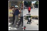 Dua pelaku jambret HP pelajar di jalan raya Pancor-Keruak babak belur dihakimi massa