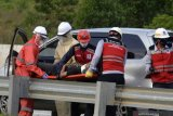 Simulasi penanganan kecelakaan di jalan tol