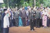 Dandim 0411 Lampung Tengah pimpin pemakaman  anggota TNI yang gugur Pratu Dwi