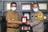 Silaturahmi Kapolda dengan Gubernur untuk menjaga sinergisitas