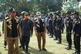 Wali Kota Mataram memimpin apel persiapan pengamanan pilkada