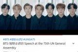 BTS menyuarakan anak muda jangan menyerah di masa sulit pandemi COVID-19
