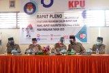 KPU Morowali Utara tetapkan bakal calon jadi calon bupati/wabub