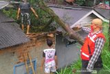 Angin kencang rusak sejumlah rumah warga di Sukabumi