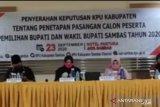 Pilkada Kabupaten Sambas, empat paslon resmi bertarung