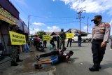 Polsek Candi Laras Selatan gencarkan Operasi Yustisi di tempat keramaian