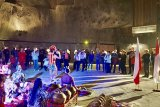 Gamelan & tari Indonesia tutup pameran foto di  tambang garam Polandia