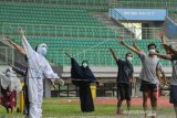 Pasien COVID-19 Olahraga Di Stadion Chandrabhaga
