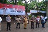 Polres Sitaro ikut Livestreaming Gerakan Sulut Sejuta Masker