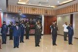 Pangdam XVII/Cenderawasih bersama Forkompinda ikuti upacara HUT TNI secara virtual