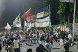 Demo mahasiswa Banten tolak UU Omnibus Law ricuh