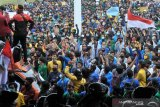 Unjuk Rasa Tolak Omnibus Law di DPRD Sumsel